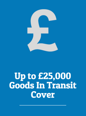 Up To £25,000 Goods In Transit Cover